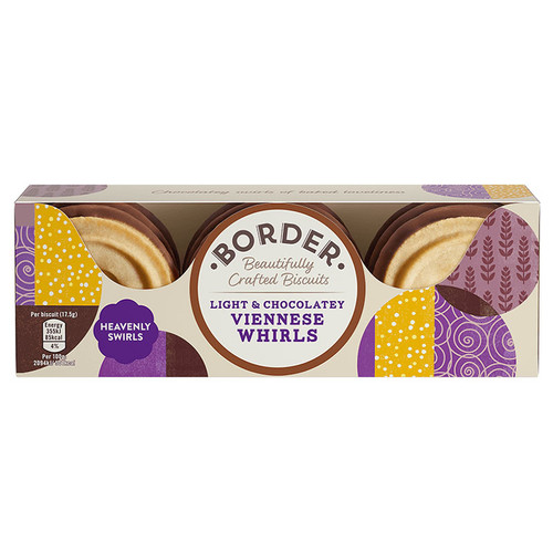Border Biscuits Light and Chocolatey Viennese Whirls