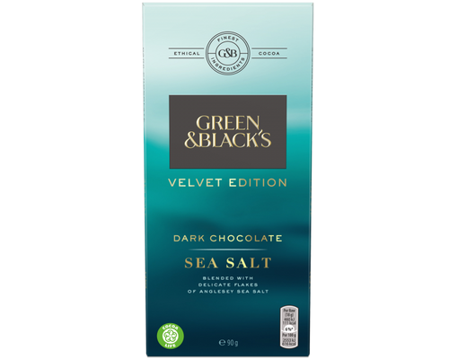 Green and Black's Velvet Edition Sea Salt Dark Chocolate