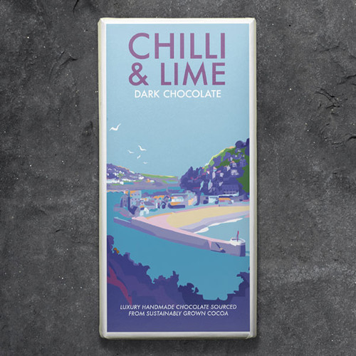 Kernow Chilli and Lime Milk Chocolate - Becky Bettesworth Range