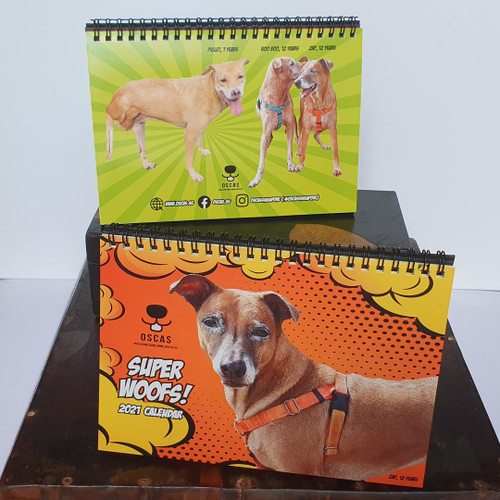 OSCAS 2021 Calendar  (100% sales goes to rehoming dogs)