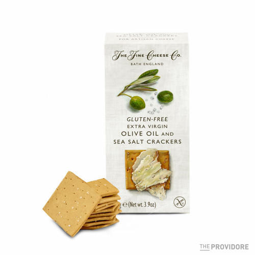 The Fine Cheese Co Gluten Free Sea Salt & Extra Virgin Olive Oil Crackers