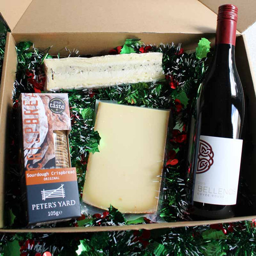 Christmas Wine & Cheese Celebration Box for 2