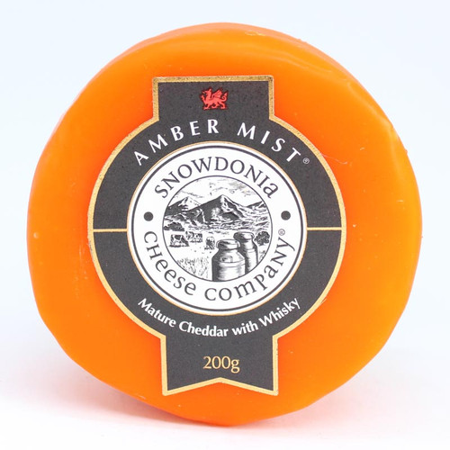 Snowdonia Amber Mist Cheddar with Whisky