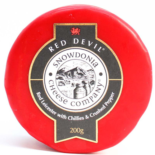 Snowdonia Red Devil Red Leicester with Chilli and Pepper