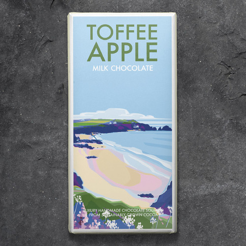 Kernow Toffee Apple Milk Chocolate - Becky Bettesworth Range