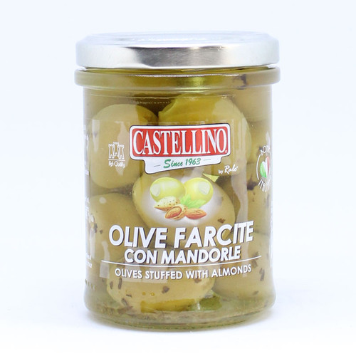 Castellino Green Olives with Almonds