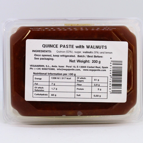 Vega Jardin Quince Paste with Walnut 200g