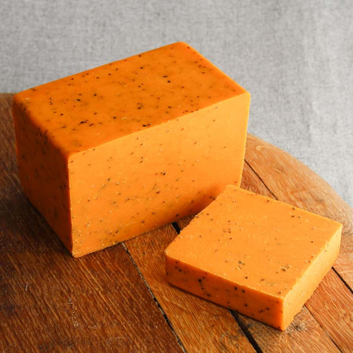 Red Leicester with Cracked Black Pepper