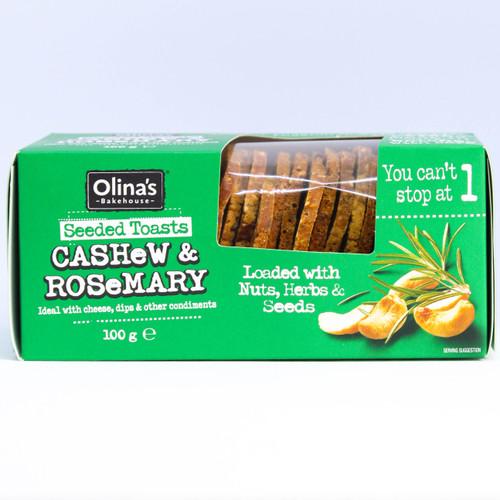 Olina's Seeded Toasts Cashew & Rosemary