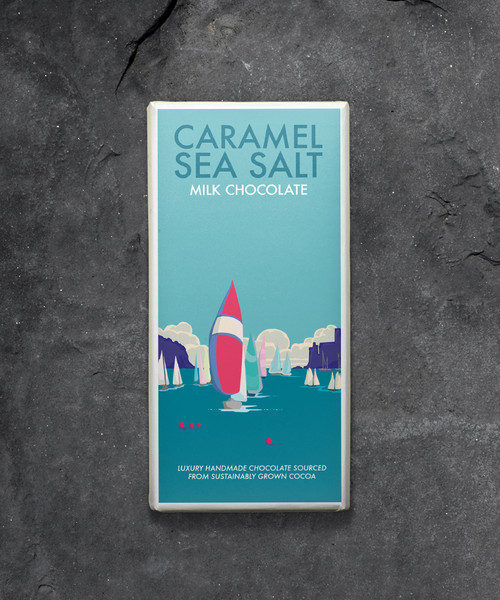 Kernow Caramel Sea Salt Milk Chocolate - Becky Bettesworth Range