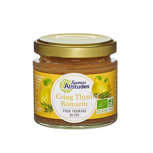 Saveurs Attitudes Quince, Thyme and Rosemary Preserve 125g