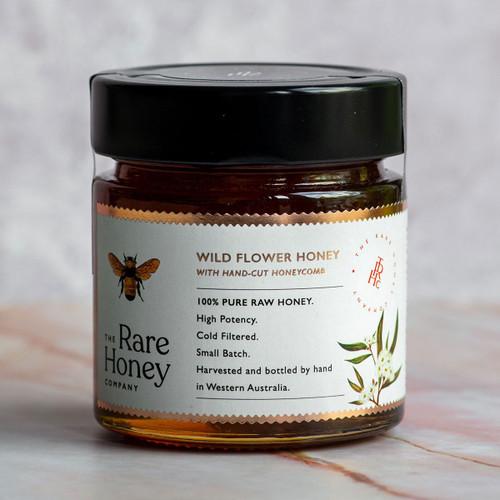 The Rare Honey Company Wildflower honey with hand-cut honeycomb
