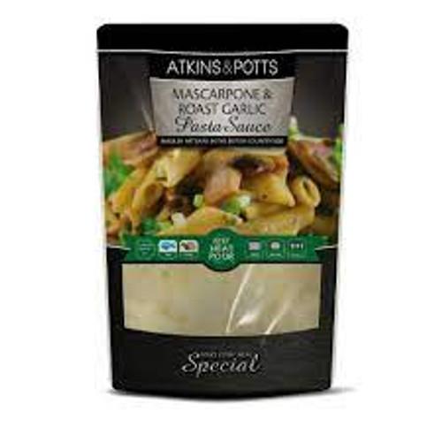 Atkins & Potts Mascarpone & Roast Garlic Pasta Sauce