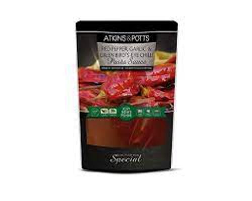 Atkins & Potts Red Pepper, Garlic & Green Bird's-Eye Chilli Pasta Sauce