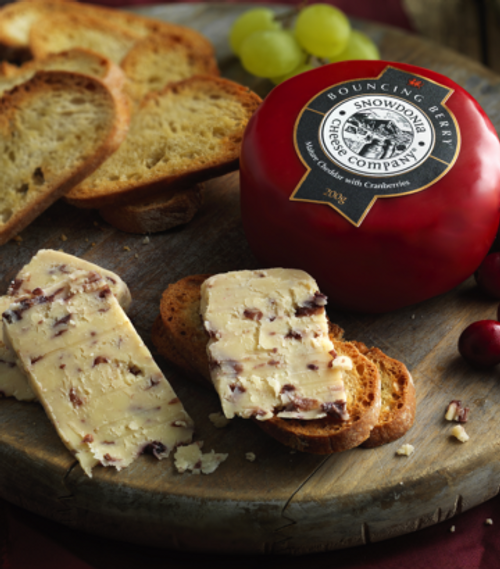 Snowdonia Bouncing Berry Mature Cheddar with Cranberries