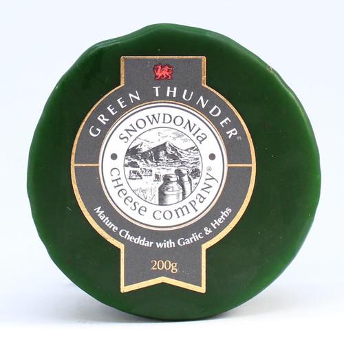 Snowdonia Green Thunder Mature Cheddar with Garlic & Herbs
