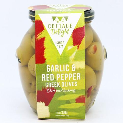 Cottage Delight Garlic and Red Pepper Greek Olives