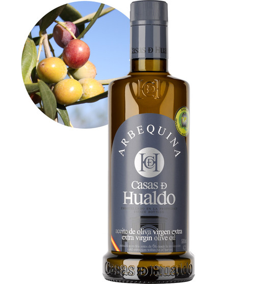 Arbequina (Mild Strength) Extra Virgin Olive Oil by Casas De Hualdo 500ml