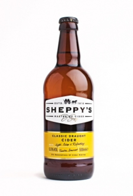 Sheppy's Classic Draught Cider 500ML