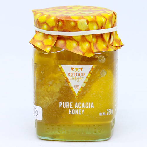 Cottage Delight Pure Acacia Honey with Honeycomb