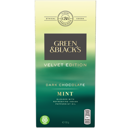 Green and Black's Mint Dark Chocolate