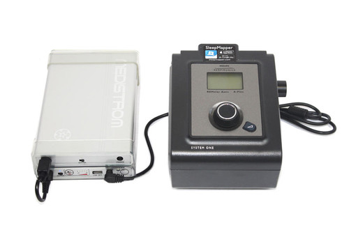 Slave battery with Pilot-12 and Philips Respironics System One