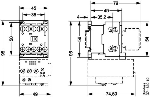 037H350502 Danfoss Contactor, CI 5-9 - Invertwell - Convertwell Oy Ab