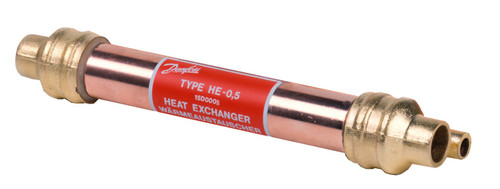 015D0001 Danfoss Tube-in-tube heat exchanger, HE 0.5 - Invertwell - Convertwell Oy Ab
