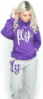 LOVE MYSELF CLOTHES First Love Yourself Fly Comfy Outfit Purple/Grey