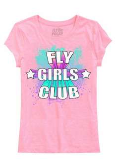 LOVE MYSELF CLOTHES Fly Girls Club Youth Tee Pink