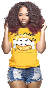 LOVE MYSELF CLOTHES Everything that Glitters is NOT GOLD Tee Gold