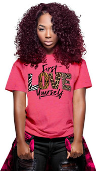 LOVE MYSELF CLOTHES LIMITED First Love Yourself Animal Print Tee 7 Colors