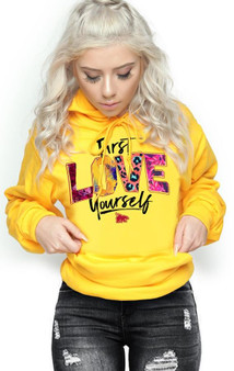 LOVE MYSELF CLOTHES First Love Yourself Pattern Hoodie Print Gold Buy 2 Get 1 FREE Code FREE1