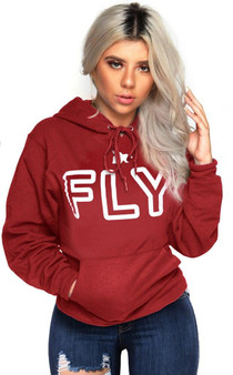 LOVE MYSELF CLOTHES FLY Campus Hoodie Cardinal Red