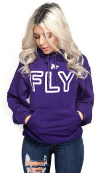 LOVE MYSELF CLOTHES FLY Campus Hoodie Berry Plum
