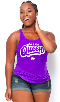 LOVE MYSELF CLOTHES I AM QUEEN Lounge Tank 7 Colors