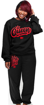 LOVE MYSELF CLOTHES I AM QUEEN Fly Girl Crew Combo