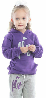 LOVE MYSELF CLOTHES Kids Fly Comfy Outfit Purple/Grey
