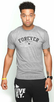 FOREVER LIVE FLY TEE GREY m