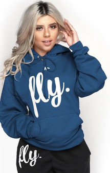 LOVE MYSELF CLOTHES NEW FIRST LOVE YOURSELF FLY COMFY HOODIE DEEP TEAL