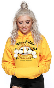 LOVE MYSELF CLOTHES Everything that Glitter is NOT Gold Lifestyle Hoodie