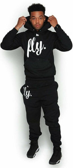 LOVE MYSELF CLOTHES FLY Comfort Hoodie Outfit ALL Black/White Print UNISEX FIT