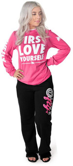 LOVE MYSELF CLOTHES LIVE FLY Collegiate Sweatpants Black