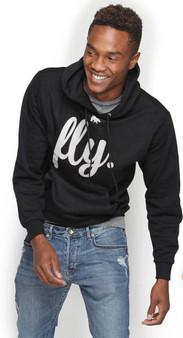 LOVE MYSELF CLOTHES Fly Mens Lounge Hoodie Black