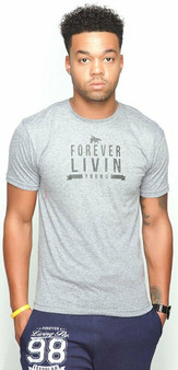 FOREVER LIVIN YOUNG Tri-Blend Tee Grey