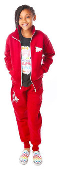 KIDS FLY Zip-Up Outfit Maroon