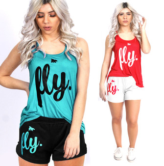LOVE MYSELF CLOTHES All Day Lounging Tank Shorts Set 5 Colors