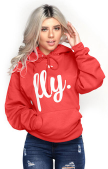 LOVE MYSELF CLOTHES FIRST LOVE YOURSELF FLY COMFORT HOODIE Candy Apple Red
