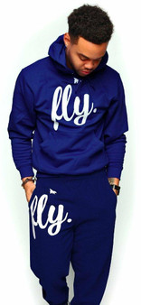 LOVE MYSELF CLOTHES FLY Comfort Outfit ALL NAVY UNISEX FIT