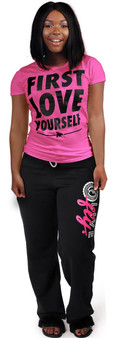 FLY - First Love Yourself Tee Pink/Black